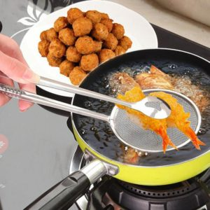 Buy Stainless Steel Strainer Frying Tong in Pakistan