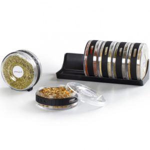 Transparent 6 Piece Seasonings Spice Rack