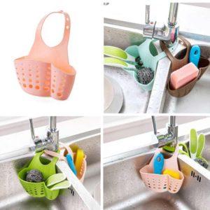 Buy Hanging Drain Sponge Holder Sink Basket Kitchen Storage in Pakistan