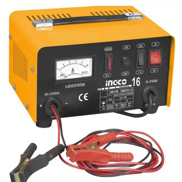 INGCO Car Battery Charger 12 Volt AND 24 Volt CB1601