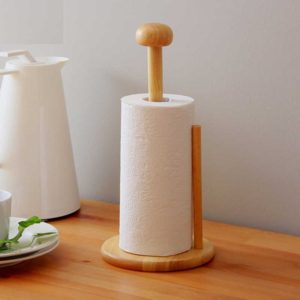 Buy Wooden Kitchen Tissue Roll Holder Stand in Pakistan