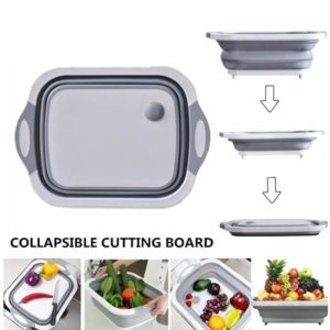 Buy 4-in-1 Folding Cutting Board With Basket in Pakistan