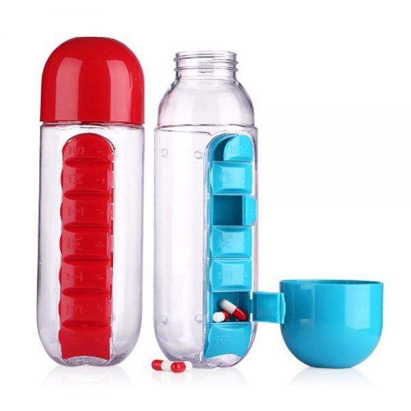Buy Pill Vitamin Organizer Water Bottle in Pakistan