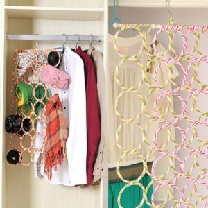 Buy Creative Storage Fordable Tie Scarf Belts Hanger in Pakistan