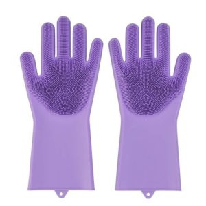 Buy Magic Silicone Washing Scrubbing Gloves in Pakistan