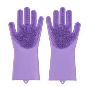 Buy Magic Silicone Washing Scrubbing Gloves in Pakistan