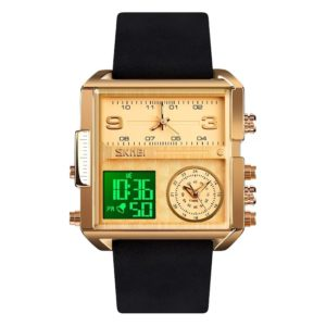 Buy SKMEI Unique LED Square Strap Quartz Watch in Pakistan