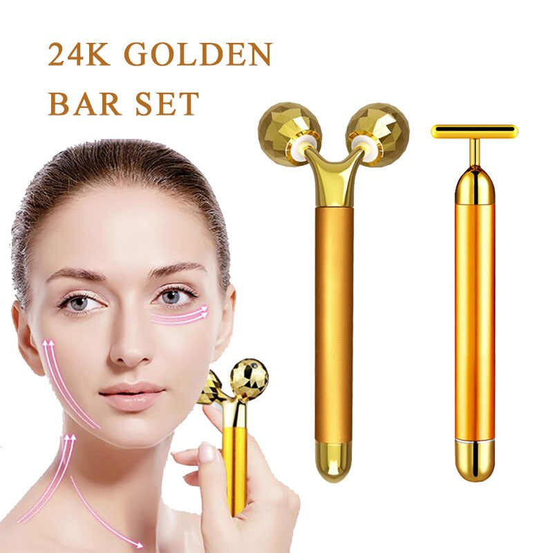 Buy 24k Gold Energy Beauty Bar Set Reduce Double Chin in..
