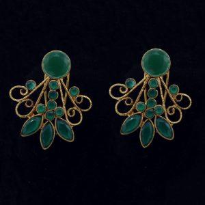 Buy Fancy Green Stone Earrings in Pakistan