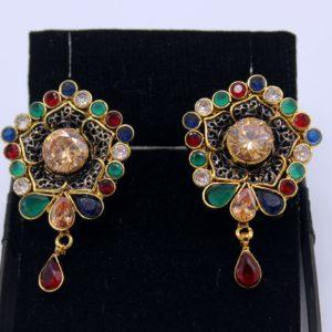 Buy Fancy Multi Color Stone Earrings in Pakistan