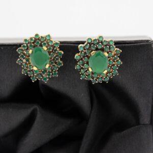 Buy Fancy Green and Golden Earrings in Pakistan