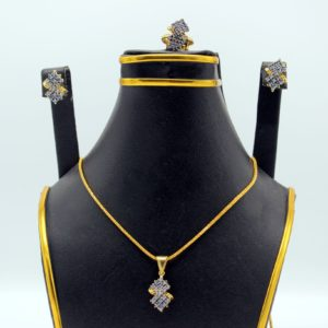 Buy Stylish Necklace Set White Stone for Women in Pakistan
