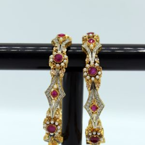 Buy Fancy Purpel & White Stone Bangle in Pakistan