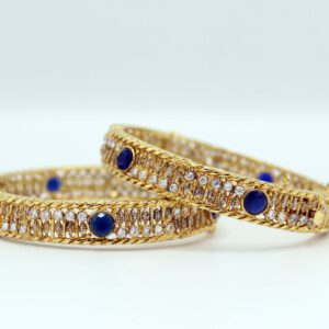 Buy Fancy Bangle White & Blue Stone for Women in Pakistan