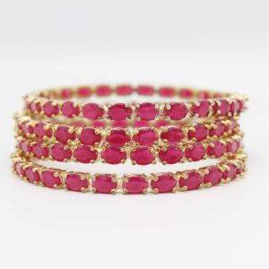 Buy Stylish Pink Stone Bangle for Women in Pakistan