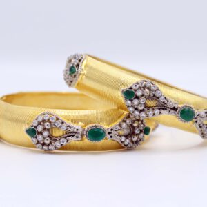 Buy Fancy Bangle White & Green for Women in Pakistan