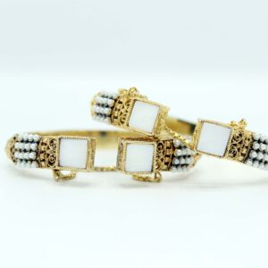 Buy Stylish White Stone Bangle for Women in Pakistan