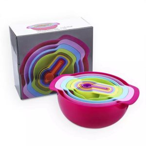 Buy Style Trendy Colorful Mixing Bowls Set With Measuring Cups in Pakistan
